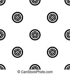 roda, car, pretas, seamless, padrão