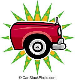 roda, car, vetorial, ilustração
