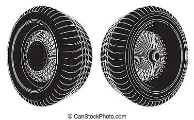 roda carro, pneu