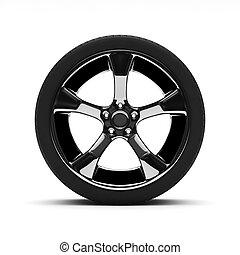 roda, chromed, pneus