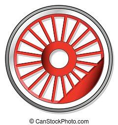 roda, de, vapor, locomotiva