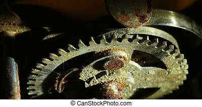 roda, enferrujado, relógio