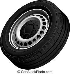 roda, furgões, típico