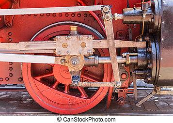 roda, histórico, trem, borkum, vapor