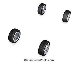 roda liga, pneu