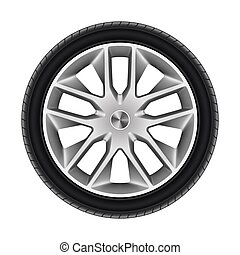 roda, ou, car, isolado, tire.., pneumático, pretas
