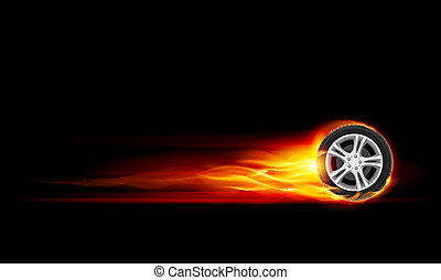 roda, queimadura
