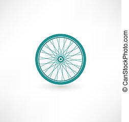 roda, símbolo, bicicleta