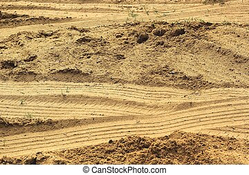 roda, trilhas, ligado, a, soil.