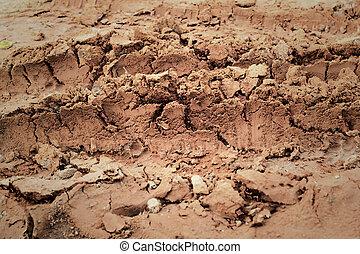 roda, trilhas, soil.