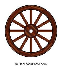 roda, vagão coberto
