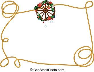 roda, vagão, quadro, natal
