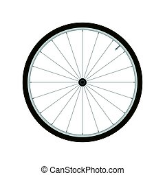 roda, vetorial, -, ilustração, bicicleta, fundo, branca