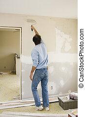 rodante, paredes, pintor