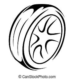 rodas, esboço, pneumático