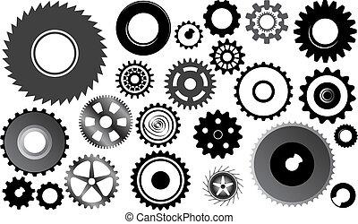rodas, jogo, engrenagem