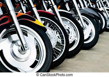 rodas, motocicleta, bits: