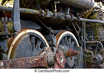 rodas, vapor, locomotiva