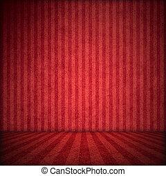 rode achtergrond, toneel