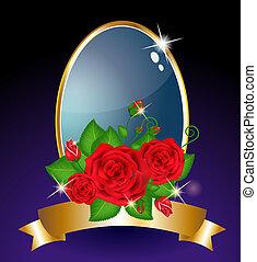 rode kaart, rozen