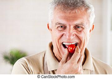 rode kers, tomaat