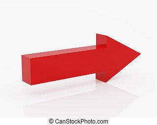 rode pijl