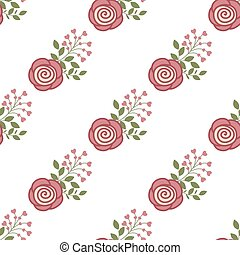 rode rozen, achtergrond, seamless