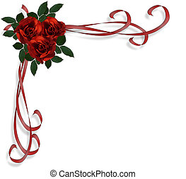 rode rozen, grens, uitnodiging