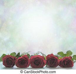 rode rozen, poster, achtergrond