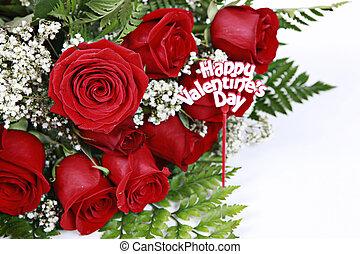 rode rozen, witte