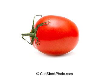 rode tomaat, vrijstaand, op wit, achtergrond