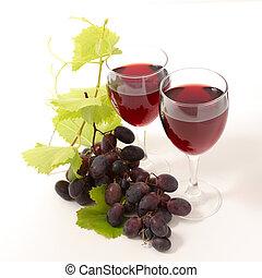 rode wijn, en, druif