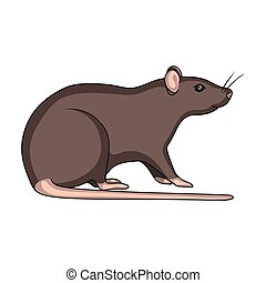 Rodent rat single icon in cartoon style for design. Pest Control Service vector symbol stock illustration web.