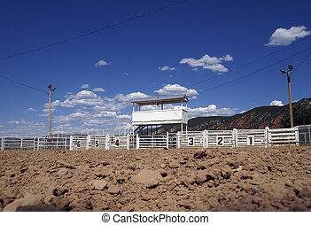 Rodeo Arena - View from inside a small town rodeo arena.