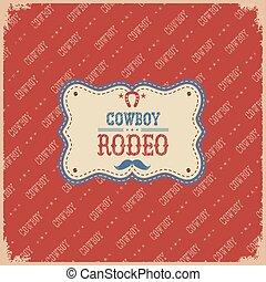 rodeo, card., vaquero
