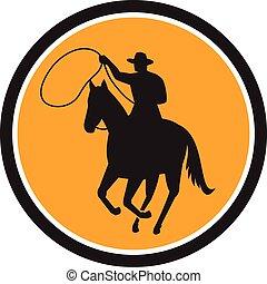 Rodeo Cowboy Team Roping Circle