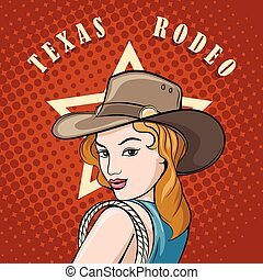 Rodeo Cowgirl with Lasso
