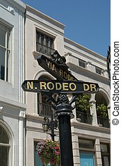 Rodeo Drive in Beverly Hills, L.A., California