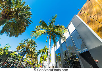 Rodeo Drive on a clear day