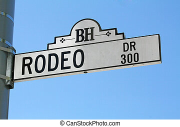 Rodeo Drive Sign in Beverly Hills, California.