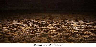rodeo, sandig, arena