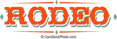 Rodeo Sign Clip Art - Rodeo sign in western style clip art