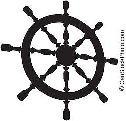 roder, styrning hjul