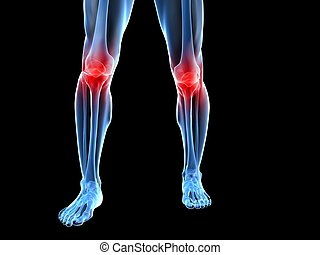 rodilla, doloroso, articulaciones
