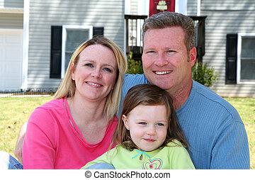 rodina, šťastný