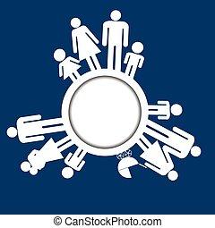 rodina, ikona, pictograms