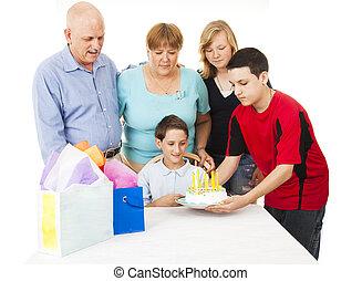 rodina, narozeniny mše