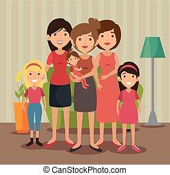 rodina, příbuzný, design