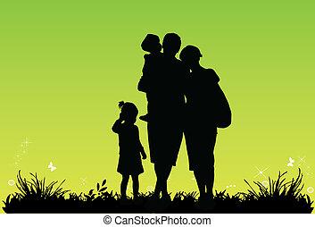 rodina, silueta