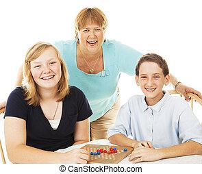 rodinný ertování, a, hry